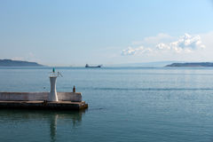 The crossing through the strait of Dardanelles Royalty Free Stock Photography
