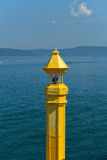 The crossing through the strait of Dardanelles Royalty Free Stock Photo