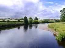 Crossing the suspension bridge into Carlisle Royalty Free Stock Photography