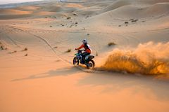 Crossing Through Desert Stock Image