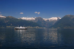 Crossing Through Sognefjord On The Ferry Royalty Free Stock Photography