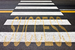 Crossing to the success - concept image Stock Photo