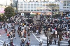 crossing tokyo Royaltyfria Bilder