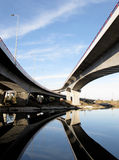 Crossing traffic highway viaducts Royalty Free Stock Images