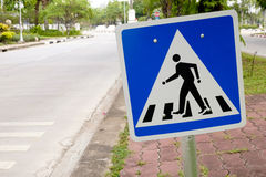 Crossing Traffic Signs. Safety concept royalty free stock photos