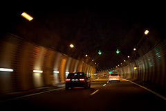 Crossing a tunnel Royalty Free Stock Photos