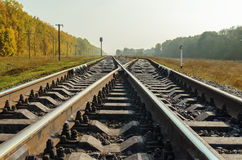 Crossing of two railroad Stock Image