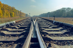 Crossing of two railroads Royalty Free Stock Images