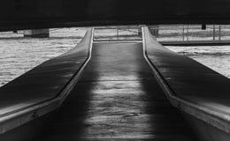 Crossing under the bridge in Geneva Stock Photography