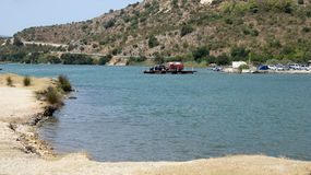 Ferry crossing in Butrint, Albania Stock Photos