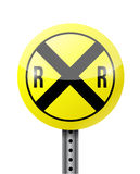Crossing warning sign illustration design. Over a white background Royalty Free Stock Photo