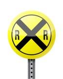Crossing warning sign illustration design Royalty Free Stock Photo
