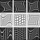 Crossing wavy lines in net backdrops. Stock Image