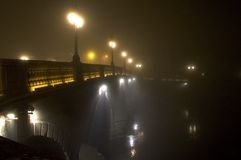 crossingflod arkivfoto