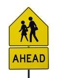 crossinggångarevägmärke Arkivfoto