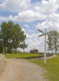 crossingjärnväg Arkivbild