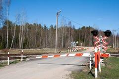 crossingjärnväg Arkivbilder