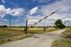 crossingjärnväg royaltyfria foton
