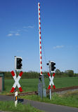 crossingjärnväg Fotografering för Bildbyråer