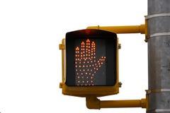 crossingsignaleringen går Royaltyfri Bild