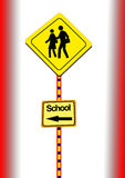 crossingskola Royaltyfri Fotografi