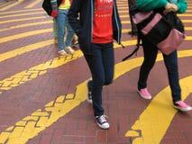 crossingväg arkivbild