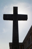 Crosslight of Catholic cross from Cathedral Royalty Free Stock Images