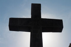Crosslight of Catholic cross from Cathedral Stock Photos