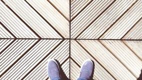 Crossline con i piedi Immagini Stock