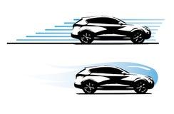 Crossover car. Vector eps 10 royalty free illustration