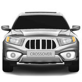 Crossover car. Dark-silver crossover car on white background royalty free illustration