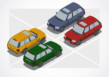 Crossover car for Isometric world Stock Images
