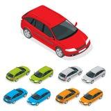 Crossover-Fahrzeug lokalisiert auf Weiß Flache isometrische Illustration 3d Lizenzfreie Stockbilder