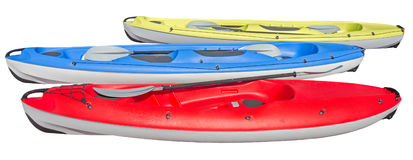 Crossover kayaks isolated royalty free stock image