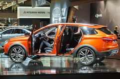 Crossover Lada Vesta Cross Concept. Moscow, Russia - August 27, 2015. Crocus Expo. International exhibition of SUVs, crossovers and off-road vehicles Moscow Off Royalty Free Stock Photos