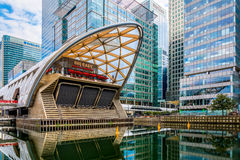 Crossrail Place in Canary Wharf. London, UK - August 29, 2016 - Cross rail Place in Canary Wharf, financial district of London Stock Image