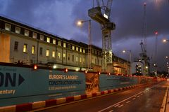Crossrail site Paddington London Royalty Free Stock Photography