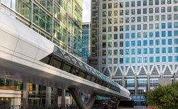 Crossrailbrücke in Canary Wharf, London Stockfotografie