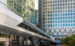 Crossrailbrug in Canary Wharf, Londen Stock Fotografie