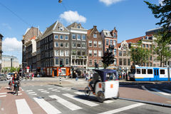 The crossroad in Amsterdam Stock Images