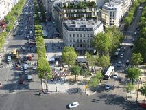 Crossroad around the Triumph Arch Paris Royalty Free Stock Images