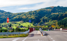 Crossroad in the Black Forest mountains Royalty Free Stock Image