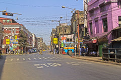 Crossroad in Calcutta Royalty Free Stock Photography