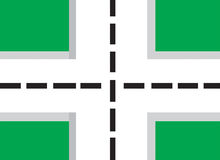 Crossroad. Colourful illustration of a crossroad(vector Royalty Free Stock Image