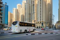 Crossroad in Dubai Stock Photo