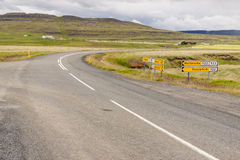 Crossroad - Iceland. Royalty Free Stock Image