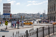 Crossroad in Istanbul, Turkey Royalty Free Stock Photography