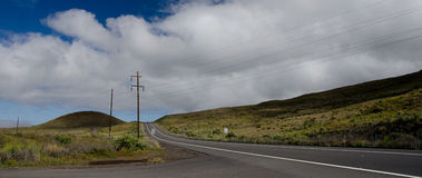 Crossroad on new route 200, Big Island Royalty Free Stock Images