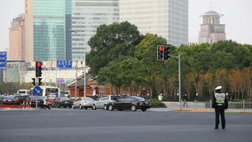 Crossroad in Pudong, Shanghai stock video