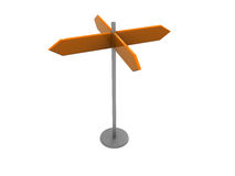 Crossroad sign. 3d illustration of crossroad sign over white background Royalty Free Stock Images
